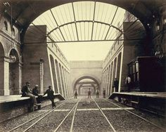 Notting Hill Gate Station after completion in the 19th century.