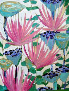 flower painting by designer Lulu DK Motif Floral, Arte Floral, Art Paintings, Watercolor Paintings, Flower Paintings, Guache, Art And Illustration, Pattern Art, Painting Inspiration