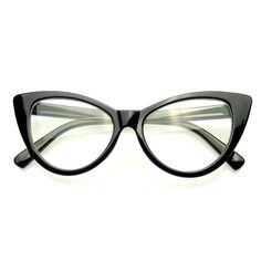 4040ea4664 Super Cat Eye Glasses Vintage Inspired Fashion Mod Clear Lens Eyewear