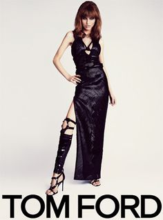 Loving the Tom Ford-shot image for his Spring '13 campaign, featuring sexy shoes and model Karlina Caune