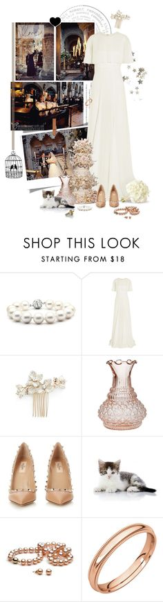"""""""Romantic religious wedding"""" by pippi-loves-music ❤ liked on Polyvore featuring Bling Jewelry, Giambattista Valli, Wedding Belles New York, Cultural Intrigue and Valentino"""