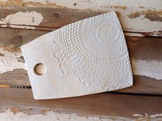 Handmade ceramic cheese board serving plate by 12thandOlivePottery