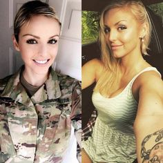 she can do both 9 3 2018 12 18 15 460 Beautiful badasses in (and out of) uniform Photos) Look Plus Size, Female Soldier, Army Soldier, Military Girl, Military Women, Girls Uniforms, Badass Women, Gorgeous Women, Costume
