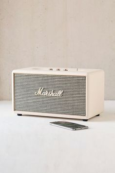 Shop Marshall Stanmore Wireless Speaker at Urban Outfitters today. We carry all the latest styles, colors and brands for you to choose from right here. Marshall Speaker, Marshall Headphones, Home Speakers, Wireless Speakers, Bluetooth Gadgets, Marshall Stanmore, Urban Outfitters Home, Chaise Vintage, Shopping