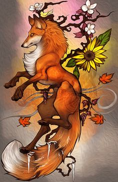 .: 4 Seasons Fox :. by =WhiteSpiritWolf on deviantART