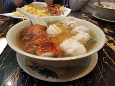 [I ate] Wonton noodle soup with roast duck