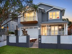 Sold 17 Fromelles Avenue, Seaforth NSW 2092 on 13 Jun 2015 - 2011979258 Hamptons Style Homes, Hamptons House, Brick Fence, Front Fence, Home Fencing, Fences, Exterior House Colors Combinations, Rendered Houses, Bungalow Renovation