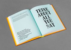 Typography quotes, typography prints, anthony burrill, book layout, page la Bold Typography, Typography Layout, Typography Quotes, Lettering, Editorial Layout, Editorial Design, Book Design, Layout Design, Print Design