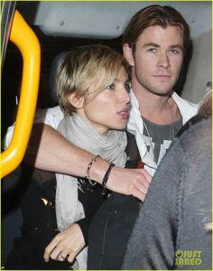 Celeb Diary: Chris Hemsworth & Elsa Pataky in Londra