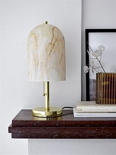 Bloomingville Table lamp white glass LIVING AND CO.
