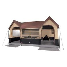 Northwest Territory Big Sky Lodge Tent - Large 10 Person Family Tent with Closets and Rooms Best Tents For Camping, Tent Camping, Outdoor Camping, Camping Hacks, Camping Outdoors, Camping Ideas, Camping Cabins, Camping Checklist, Camping Stuff