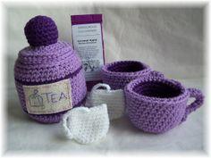 KTBdesigns: Crochet Play Food...tea set