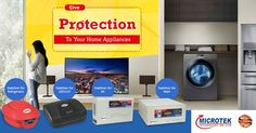 Give Protection to all your Home Appliances with Microtek Digital Voltage Stabilizers. Request for home delivery.
