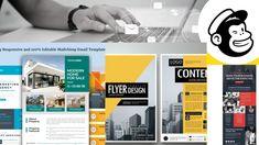 design editable mailchimp, email template, newsletter – FiverrBox Email Templates, Newsletter Templates, Responsive Email, Modern Logo, Flyer Design, Promotion, Quote, Quotation, Modern Logo Design