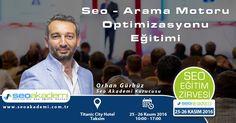 Eğitmenimiz Orhan Gürbüz 25 - 26 Kasım tarihlerinde Seo Eğitim Zirvesi'nde Arama Motoro Optimizasyonu - Seo Eğitimi verecektir. Kayıt olmak için: www.seoeğitimzirvesi.com
