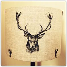 Handmade Lampshade Vintage Style Stag by CountryVintageStudio Vintage Style, Vintage Fashion, Lampshades, Drums, Bedroom Ideas, Moose Art, Loft, Farmhouse, Trending Outfits