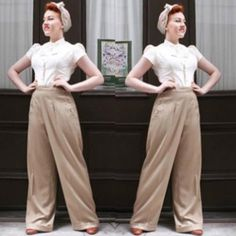 You gotta love our 1940's style trousers. Such authentic glamour…