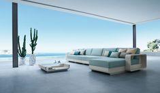 Baidani Rattan Garten Lounge Set Mikonos | Outdoor-Wohnzimmer ...