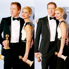 GOLDEN GLOBE - BEST ACTOR AND BEST ACTRESS AWARD GOES TO DAMIEN LEWIS AND CLAIRE DANES.
