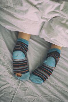 https://flic.kr/p/v2LhYh | Bed socks | Boy struggled to get up this morning.