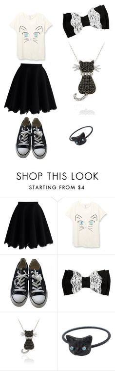 """""""Me AF #1"""" by shannyncrazycat ❤ liked on Polyvore featuring Chicwish, Converse and DB Designs"""