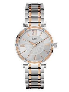 Refined Two-Tone Feminine Watch | GUESS.COM