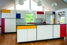 Mondrian inspired  kitchen