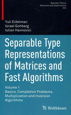 Separable Type Representations of Matrices and Fast Algorithms: Basics. Completion Problems. Multiplication and I...