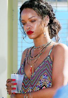 """style-racks: """" """" Rihanna in Calvi, France on September 1st, 2014 """" So stunning """""""