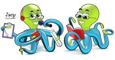 Criação de mascote para uma empresa de odontologia - - Feita em Adobe Illustrator e Photoshop
