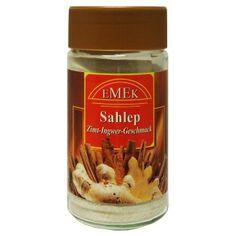 Emek salep Salep från Emek. Mjölkaktig dryck med kanel och ingefära smak. Drycken anses bland annat vara bra mot förkylning och vinterrusk.
