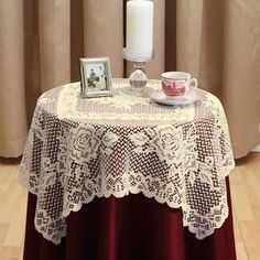 Versailles Lace Square Table Topper