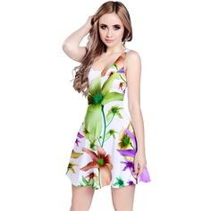 Multicolored Floral Print Reversible Sleeveless Dress by #dflcprints