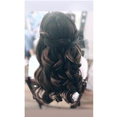 Hair Looks, Bridal Hair, Curls, Long Hair Styles, Beauty, Style Of Hair, Cosmetology, Long Hairstyles, Long Hair Cuts
