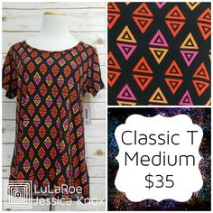 The LuLaRoe Classic T is a staple in any wardrobe! It's high-low style makes it the perfect Tee to wear with leggings! Find more like this at https://www.facebook.com/groups/LulaRoeJessicaKnoxVIP/