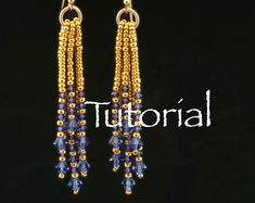 This Art Deco inspired necklace is fun to bead; not quite RAW, not quite netting, but combining aspects of each, it works up fairly fast once you learn the basic sequence. For those who like to make variations, the crystals and the pendant can be replaced with a variety of different materials. Once you learn the pattern, you can even change the number or sizes of beads used; you are limited only by your own imagination. This pattern is suitable for intermediate and advanced beaders…