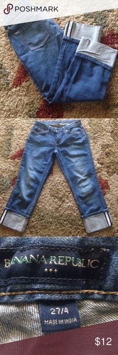 Womens jeans Sale Today Only Womens Banana Republic Boyfriend Capris size 27/4 Banana Republic Jeans Boyfriend