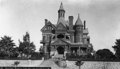 The Bradbury Mansion in Bunker Hill, Los Angeles. This house was built in 1887 and was designed by Samuel and Joseph Carter Newsom (the same architects for the Carson Mansion in Eureka, CA) at a staggering cost of $80,000. It was bought by L.L. Bradbury from J.W. Potts for $125,000. The house featured 35 rooms, five chimneys and five turrets. Later it was occupied by various movie studios and slowly deteriorated. In 1929 it was demolished.