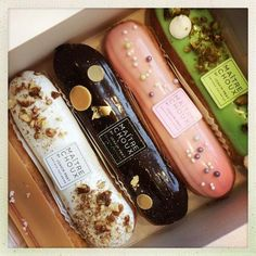 """Maitre Choux Morpheus: """"If real is what you can feel, smell, taste and see, then 'real' is simply electrical signals interpreted by your brain. French Desserts, Cute Desserts, Dessert Recipes, Eclairs, Patisserie Fine, Eclair Recipe, Do It Yourself Food, Choux Pastry, French Pastries"""