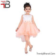 #Princess  #Peachandwhite #Cute #Dress #Kidswear #Betrendy