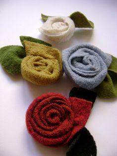 boiled wool flowers