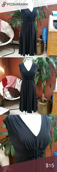 "Anne Klein black cocktail dress In excellent condition. Zippers in the back. Ruching around the waist. 41"" from shoulder to hemline. * Anne Klein Dresses"