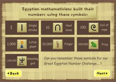 Here's an interactive site on the Ancient Egyptian system of numeration.