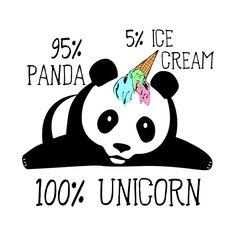 Shop Panda Ice Cream Unicorn Funny Pandicorn pandicorn t-shirts designed by xeire as well as other pandicorn merchandise at TeePublic.