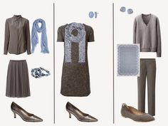 The Vivienne Files: A Grey Wardrobe with Soft Blue