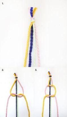 Como hacer cortinas de macrame paso a paso 2
