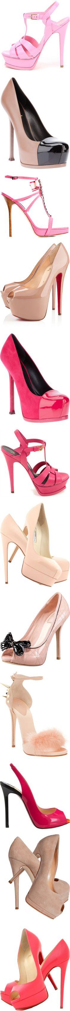 Pink heels ♥✤   Keep the Glamour   BeStayBeautiful