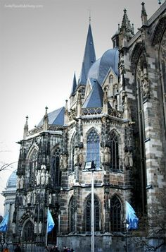 "Outside Charlamagnes Cathedral Aachen Germany  You can ""feel"" the history when you go in. So cool!"