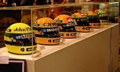 Ayrton Senna - Capacetes / Helmets
