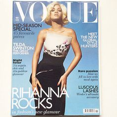 British VOGUE NOVEMBER 2011 Rihanna Rocks magazine cover + Tilda Swinton